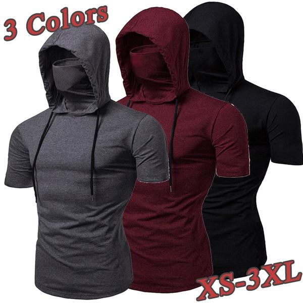 Summer, Plus Size, Sleeve, hoodedtshirt