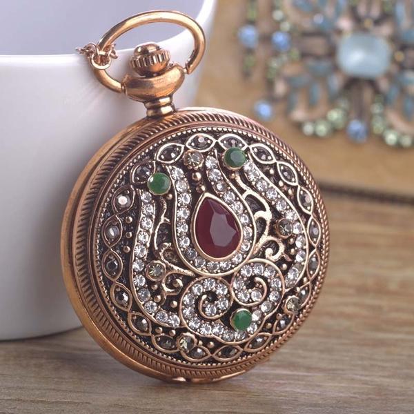 quartz, Watch, Pocket, Pocketwatch