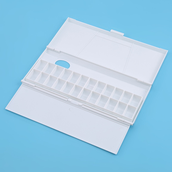 Watercolor Palette Paint Trays Stationeries Moisturizing Plastic Art Accessories