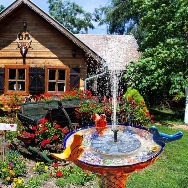 Lawn, Fountain, Garden, Solar