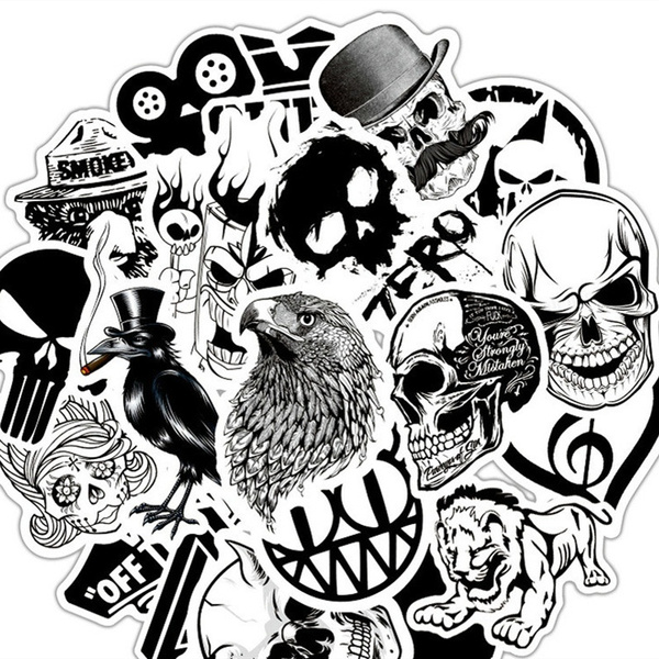 Car Sticker, Goth, skullsticker, Waterproof