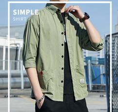 Summer, middlesleeve, Shirt, Trend