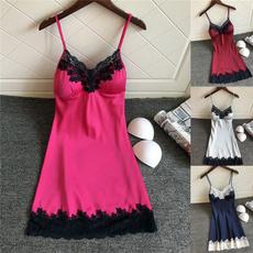 night dress, nightwear, Lace, silknightdre