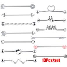 Steel, Jewelry, industrialbarbell, tragusbar