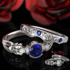 Beautiful, wedding ring, 925 silver rings, Engagement Ring