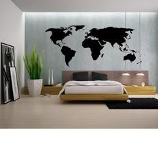 largesizeworldmapmural, Decor, homedecotaiton, homebedroomdecor