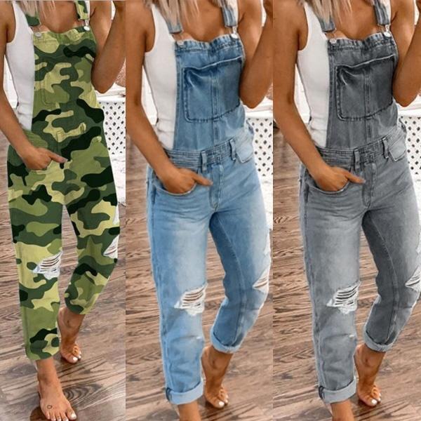 Plus Size, pants, rippedjean, Denim