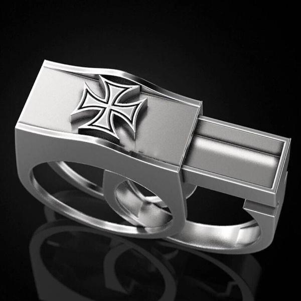 Hidden Box silver ring 92.5/% hallmark