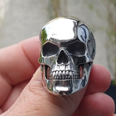 Steel, Fashion Accessory, Jewelry, skull