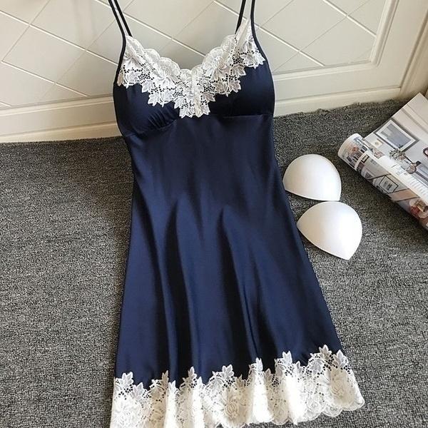 night dress, Underwear, Lace, lace trim