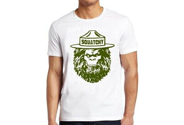 Sasquatch T Shirt Squatchy Funny Bigfoot Camp Hiking Mountain Cool Gift Tee 114