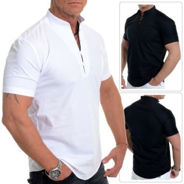 Stand Collar, Fashion, Shirt, Sleeve