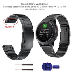 Steel, quatix5, Wristbands, forgarminfenix5x