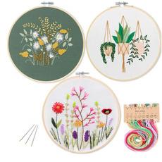 Flowers, Craft Kits, embroiderydecor, Kit