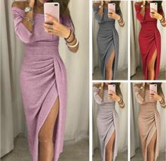 promdresseslong, Plus Size, Long Sleeve, Dress