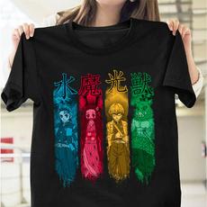 shortshirt, Summer, demonslayerkimetsunoyaiba, Cotton T Shirt
