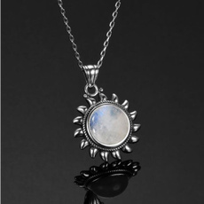 Antique, moonstonenecklace, 925 sterling silver, Jewelry