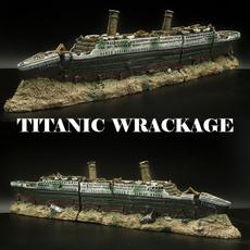 Tank, titanicwreckage, aquariumdecoration, fish