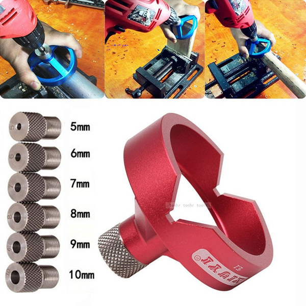 90 Degree Drill Bit Guide Hole Puncher Woodworking Tools Locator Jig Hinged