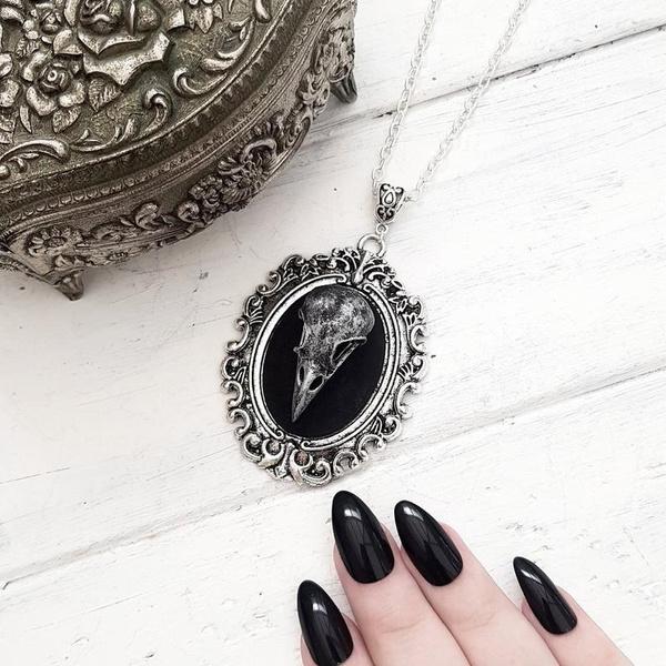 Goth, Cameo, Jewelry, skull