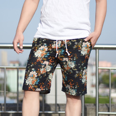 Summer, Men, Floral print, pants