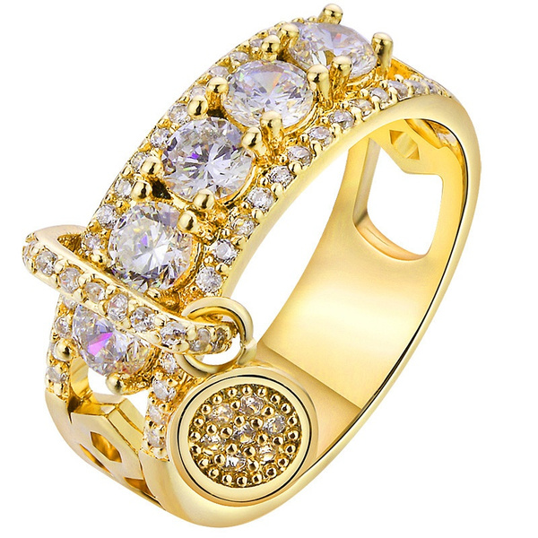 Steel, goldplated, Fashion, wedding ring