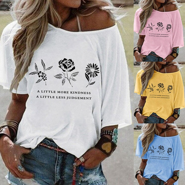 Summer, Plus Size, Graphic Shirt, Loose
