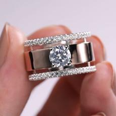 Fashion, wedding ring, 925 silver rings, Classics