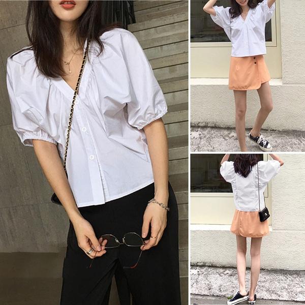 Summer, white shirt, crop top, blusasfeminina