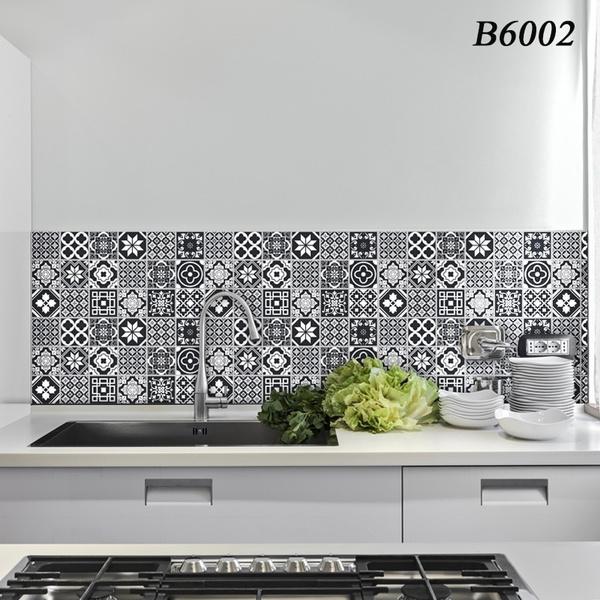 Bathroom, waterproofwallpaperoilproofwallpaper, wallrenovationrepairwallpaper, Stickers
