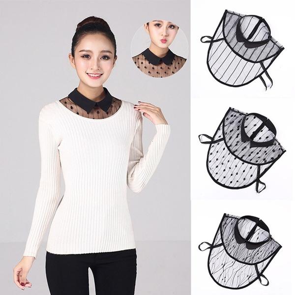 blouse, Women, Fashion, halfshirtcollar