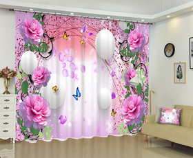 pink, windowcurtain, Luxury, pinkcurtain
