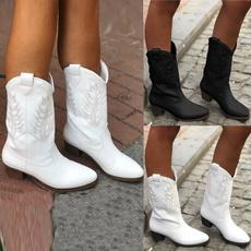Womens Boots, thickheel, knightboot, Cowboy