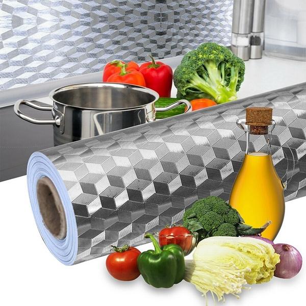 Kitchen & Dining, kitchenoilproofsticker, Aluminum, Waterproof