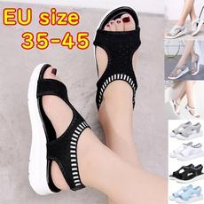 Summer, Sandals, Flats shoes, Elastic