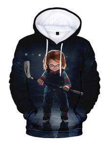 3d sweatshirt men, Plus Size, 3dprintpulloverhoodie, Horror