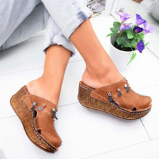 wedge, Sandals, Womens Shoes, puimentiua