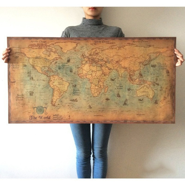 Decor, Wall Art, Home Decor, worldmap