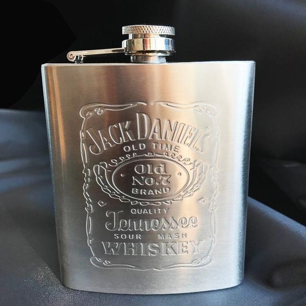 Hot sale portable stainless steel hip flask travel whiskey alcohol liquor bottle