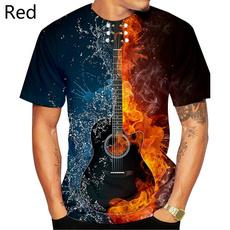 Summer, Fashion, guitartshirt, roundnecktshirt