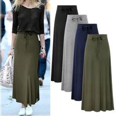 summer skirt, womenhighwaistskirt, Waist, ladyskirt