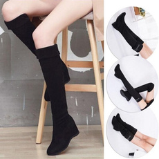 Knee High Boots, Fashion, Elastic, long boots