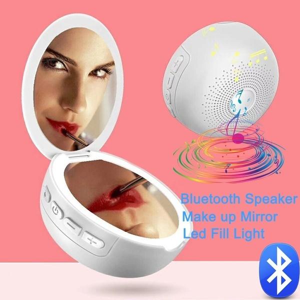 Mini Bluetooth Speaker Led Fill Light, Makeup Mirror With Light And Bluetooth Speaker