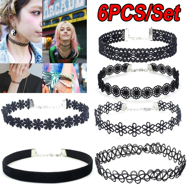 tattoo, Chain Necklace, velvet, Jewelry