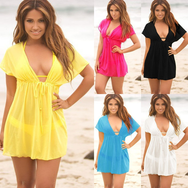 Mini, chiffon, Summer, Dress