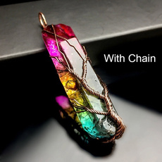 hexagonpendant, rainbow, Jewelry, Gifts