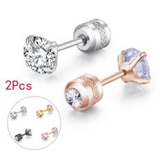 Steel, DIAMOND, Men Earrings, Ювелірні вироби