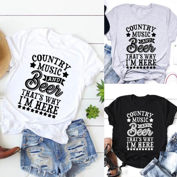 ladieswomentop, Tees & T-Shirts, Cotton Shirt, Concerts