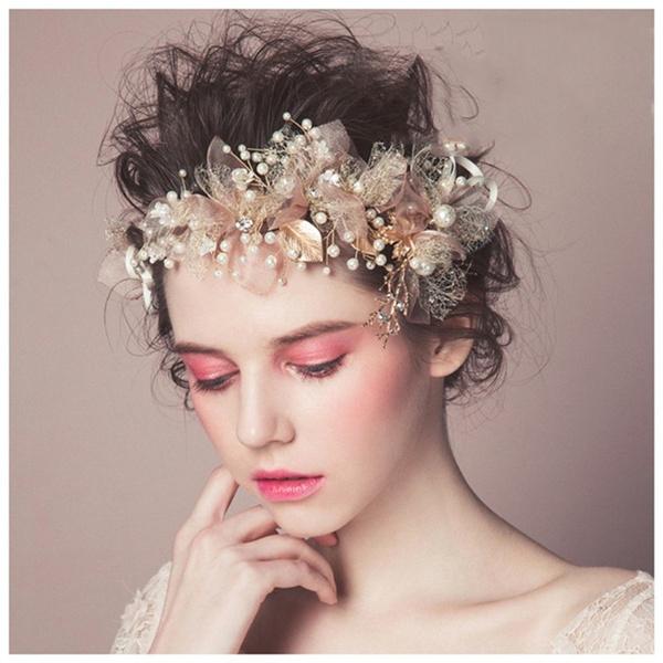 pink, Head, haircomb, hair jewelry