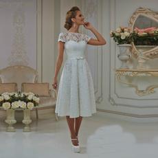 2020weddingdres, Lace, Tea, Dress